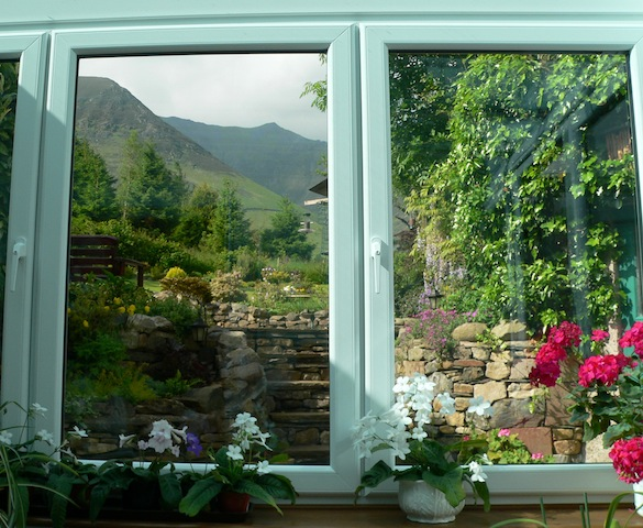 Rose Cottage: View from                   conservatory