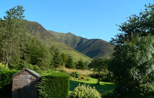 View of Blencathra from Rose                   Cottage's bathroom window