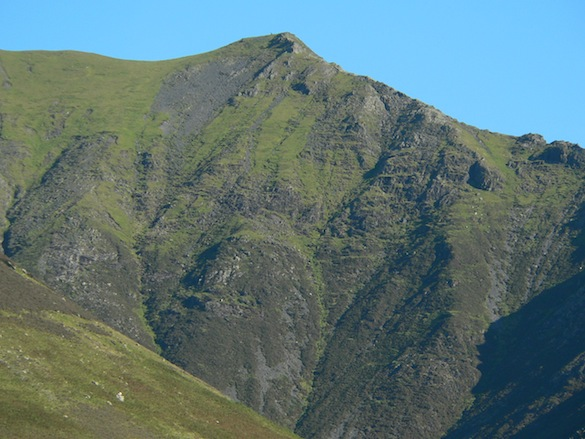 Close-up of Blencathra summit                   from Rose Cottage's bathroom window
