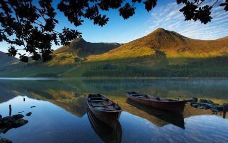 Boats on                 Buttermere