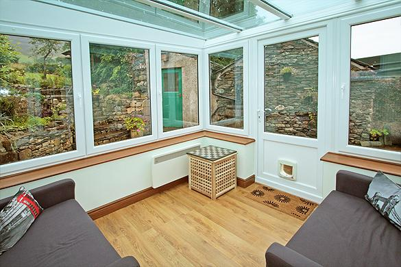 Interior of Rose Cottage:                   Conservatory