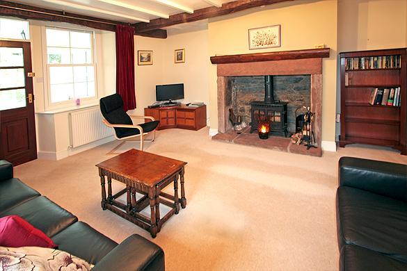 Interior of Rose Cottage: Sitting                   room