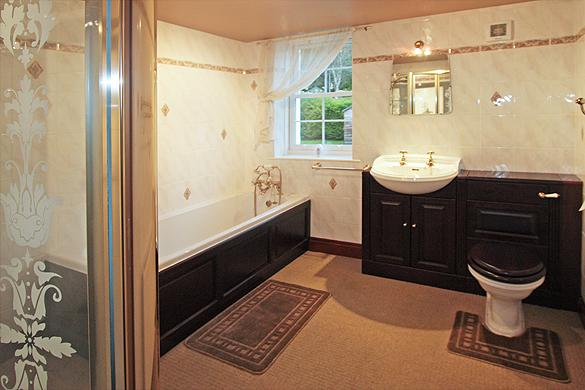 Interior of Rose Cottage:                   Bath/shower room