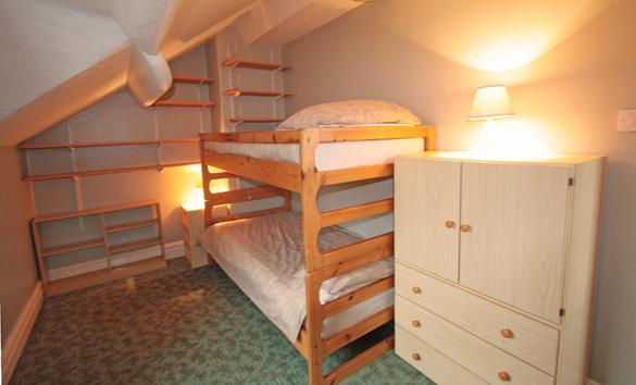 Interior of Rose Cottage: Twin                   (bunk) bedroom